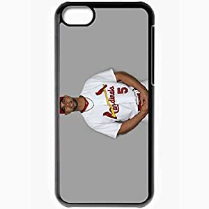 Personalized iPhone 5C Cell phone Case/Cover Skin Albert Pujols 1 Sports Black