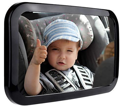 Baby Car Mirror - CUVAS Baby Car Mirror for Backseat   Shatterproof   360° Adjustable