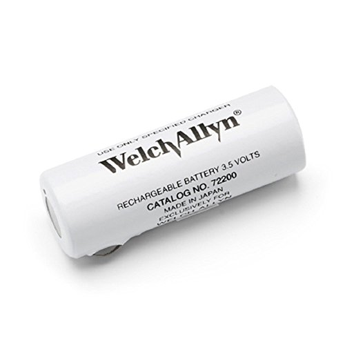 Welch Allyn 72200 Nickel-Cadmium Rechargeable Battery for 71670/60835/71000 Power Handles, Black Lettering, (Welch Nickel Battery)
