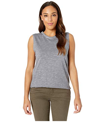 Alternative Women's Inside Out Slub Sleeveless T-Shirt Elephant Grey Pigment Small