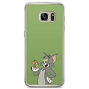Loud Universe Classic Cartoon Samsung S7 Edge Case Tom and Jerry Samsung S7 Edge Cover with Transparent Edges
