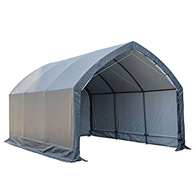 Abba Patio Garage and Shelter 13 x 20 x 11 ft Outdoor Storage Shed Heavy Duty Canopy SUV and Truck Carport, Grey