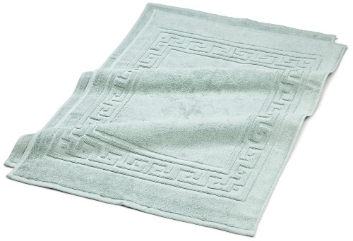 Superior Hotel & Spa Quality Bath Mat Set of 2, Made of 100% Premium Long-Staple Combed Cotton, Durable and Washable Bathroom Mat 2-Pack - Sage, 22