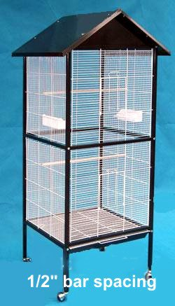 Outdoor/Indoor Flight Aviary Cage Black (Large) L30 X W24 X 70H, My Pet Supplies