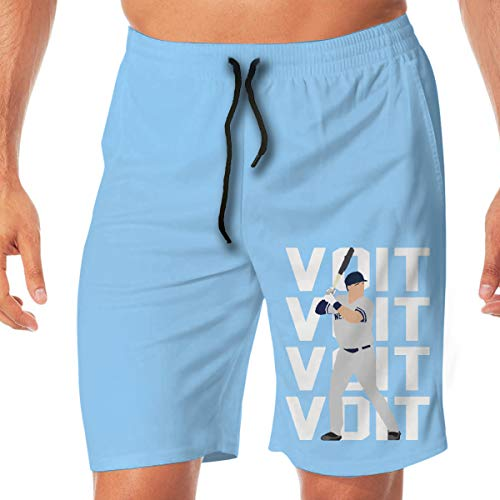 - Men's Swim Trunks Quick Dry Navy New York VOI-t Text Pic Surfing Beach Board Shorts with Two Pockets