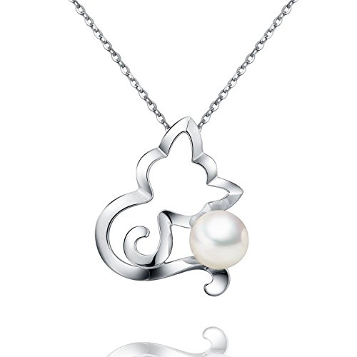 Lovers Freshwater Cultured Necklace Sterling