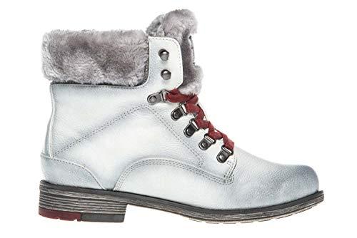Botines ice 203 Weiß femminile Mustang Stiefelette 4Inwx0qw5