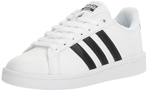 adidas Women's Shoes | Cloudfoam Advantage Sneakers, White/Black/White, (8 M US)