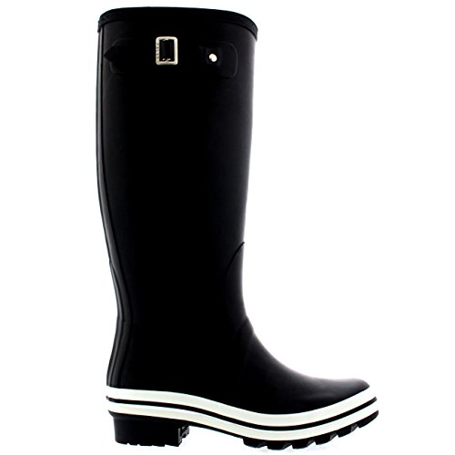 Tall Negro Goma Botas Caucho Botas Polar Yarda Lluvia De Impermeable Nieve Mujer Ecuestre O5qWRq7P
