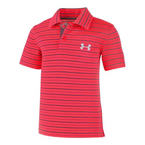 - Under Armour Boys' Pre-School UA Champion Stripe Polo 6 RED Rage