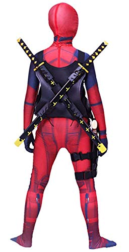 Riekinc Unisex Lycra Spandex Zentai Halloween Cosplay Costumes Kids 3D Style, Red, Medium - http://coolthings.us