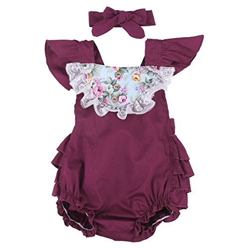Baby Floral Clothes Sunsuit Backless product image