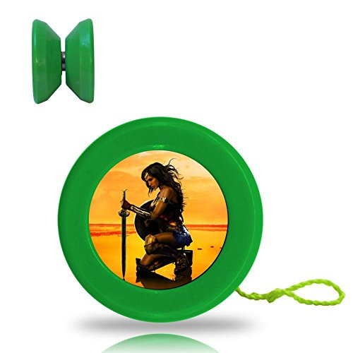 [Wonder Woman Superhero Responsive YoYo King with Ball Bearing Axle and Extra String Green] (All Costumes For God Of War 3)
