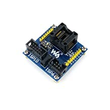 Venel Electronic Component, T24+ ADP, AVR Programmer Adapter, Enplas IC Test & Burn-In Socket With a Simple Board, Especially for AVR Soic14(150 Mil) Package, 10-Pin/6-Pin ISP Port for Programming
