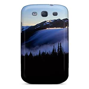 New Fog On Olympic Mountains In Washington Tpu Case Cover, Anti-scratch Henrydwd Phone Case For Galaxy S3