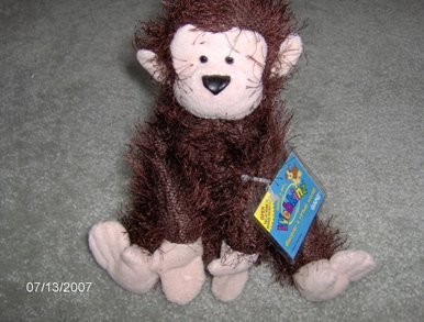 Webkinz Monkey - First Edition with No Magic W - New with Sealed Tag and Unused Code