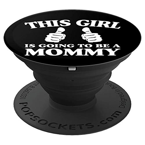 This Girl Is Going To Be A Mommy Funny Christmas Gift Women - PopSockets Grip and Stand for Phones and Tablets ()