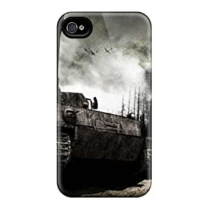 GgjqUaZ730SNddc Anti-scratch Case Cover WilliamMorrisNelson Protective Panzer Tank Case For Iphone 4/4s