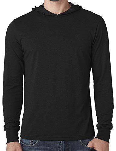 Yoga Clothing For You Mens Lightweight Hoodie Tee Shirt (Mens Medium, Black)