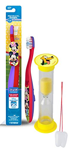 Disney Mickey Mouse Clubhouse 2pc. Bright Smile Oral Hygiene Set! Soft Manual Toothbrush & Brushing Timer!