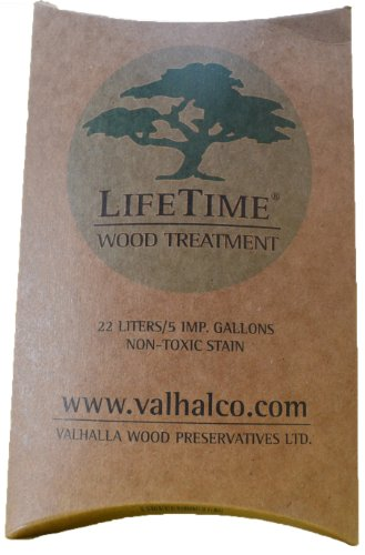 Stain Wood Siding - Valhalla Wood Preservatives 5-Gallon Eco Friendly Non Toxic Lifetime Wood Treatment Pouch