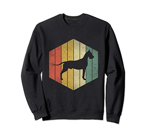 Dane Dog lover Vintage Retro Distressed Gift for dog mom dad Sweatshirt