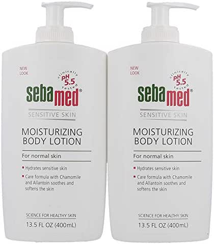Sebamed Paraben-Free Moisturizing Body Lotion With Pump for Sensitive and Delicate Skin pH 5.5 Ultra Mild Dermatologist Recommended Moisturizer 13.5 Fluid Ounces (400 Milliliters) Set of 2 Value Pack