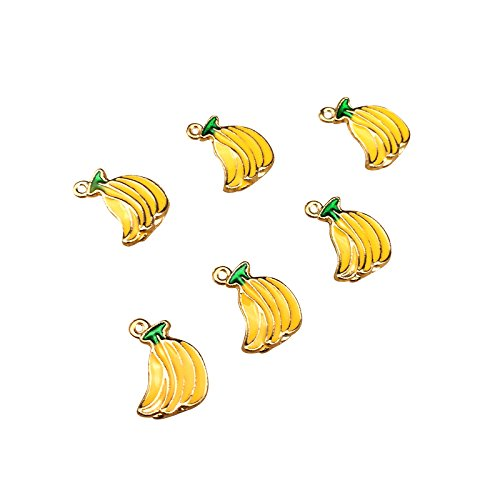 - SANQIU Enamel Banana Charm Pack of 10 for Jewelry Making