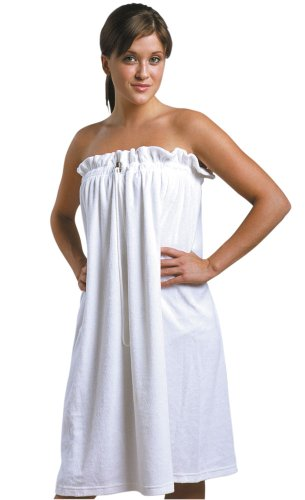 JMT Beauty Soft French Terrycloth Spa Wrap w/Drawstring & Stopper, Fits for Sizes S-L -