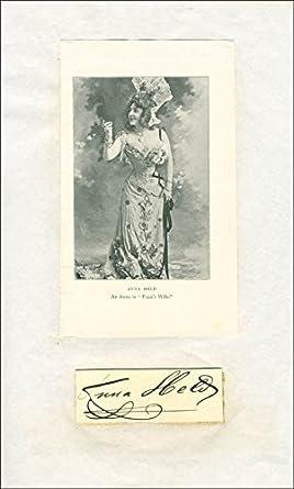 Anna (Mrs  Florenz Ziegfeld) Held - Signature at Amazon's