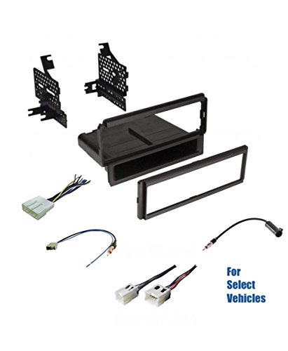 (Premium Car Stereo Install Dash Kit, Wire Harness, and Antenna Adapter to Install an Aftermarket Radio for Select Nissan Vehicles - See Compatible Vehicle List Below)