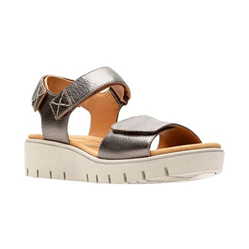 CLARKS Womens Un Karely Bay Bronze Metallic Sandal - 9.5 M