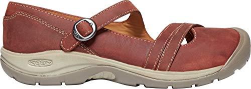 KEEN - Women's Presidio II Cross Strap Casual Sneaker, Fired Brick/Brindle, 9.5 M US (Keen Shoes Women Mj)