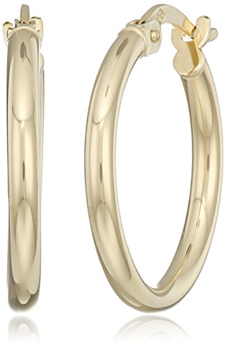 18k Yellow Gold 2mm 0.75'' Click-Top Round Hoop Earrings by Amazon Collection