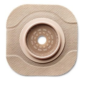 5011203 - Hollister New Image CeraPlus 2-Piece Cut-to-Fit Tape Border (Extended Wear) Barrier Opening 1-3/4 Stoma Size 2-1/4 Flange Size