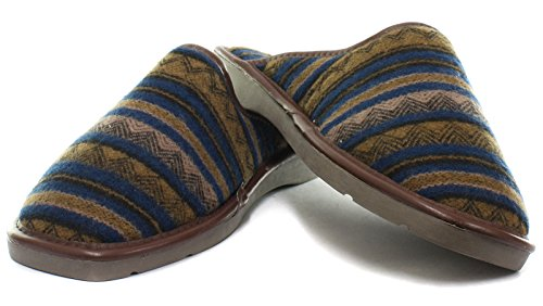 Dunlop Aloys Mens Muilezel Pantoffels Tan