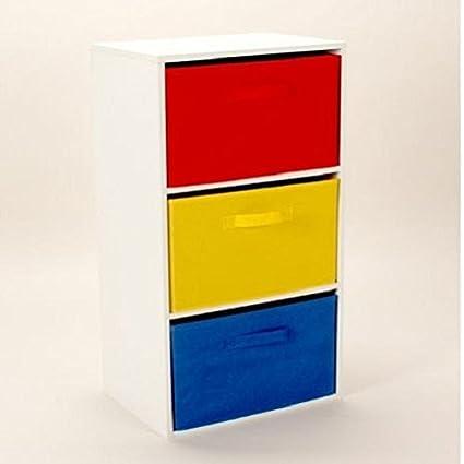 3 Tier Toy Unidad de almacenamiento niños de pecho de 3 cajones de ...
