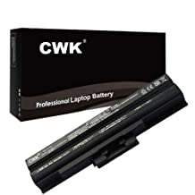CWK® New Replacement Laptop Notebook Battery for Sony VAIO VGN-SR420D/B VGN-SR420D/H VGN-SR420J VGN-SR420J/B 4400mAh PCG-81115L PCG-81214L PCG-81312L PCG-8131L PCG-5N2L PCG-5N4L PCG-5P2L PCG-5P4L PCG-5R1L PCG-51411L PCG-51412L PCG-51511L PCG-51513L PCG-8141L PCG-8152L PCG-8161L PCG-9131L PCG-9Z1L PCG-7161L PCG-7162L PCG-7171L PCG-7172L PCG-7173L PCG-7151L PCG-7152L PCG-7153L PCG-7154L PCG-7174L PCG-71111L PCG-7141L PCG-7142L PCG-7148L PCG-7181L