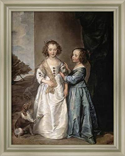 (Framed Canvas Wall Art Print | Home Wall Decor Canvas Art | Philadelphia and Elisabeth Wharton by Anthony Van Dyck | Modern Decor | Stretched Canvas Prints )