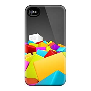 Defender Cases With Nice Appearance (3d Colorful Squares) For Iphone 5/5s