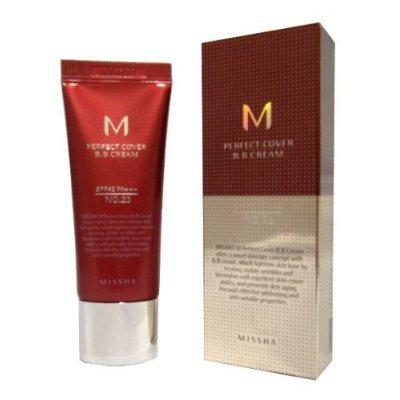 MISSHA M Perfect Cover Bb Cream with SPF 42 Pa+++, No.23 Natural Beige (Honey Beige Missha)