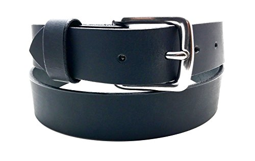 Handmade Black Leather Belt Custom Thick Quality