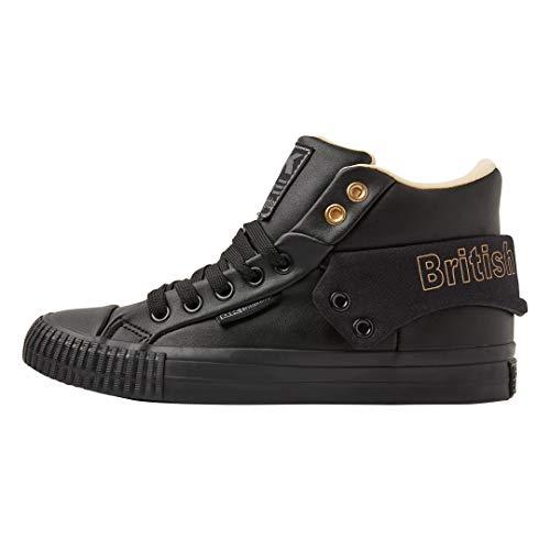 black Roco gold Baskets 05 British black Knights Snt Femme Noir Hautes Oqw6gTx0