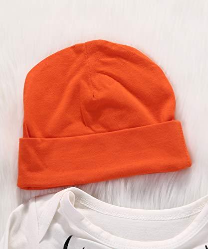 Geagodelia Set di Abbigliamento per Bambini Neonato 3 Pezzi Completi Pagliaccetto Pantaloni Cappello Autunno Inverno 3