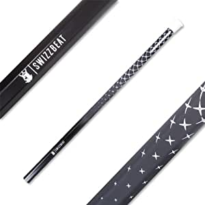 Brine Swizzbeat Lacrosse Attack Shaft, Black, 30-Inch