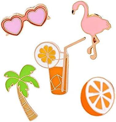 Da.Wa Broche et Pins Alliage Mignon Lapel Pin Dessin Anim/é Orange Cadeau de Vacances pour Enfant Femmes