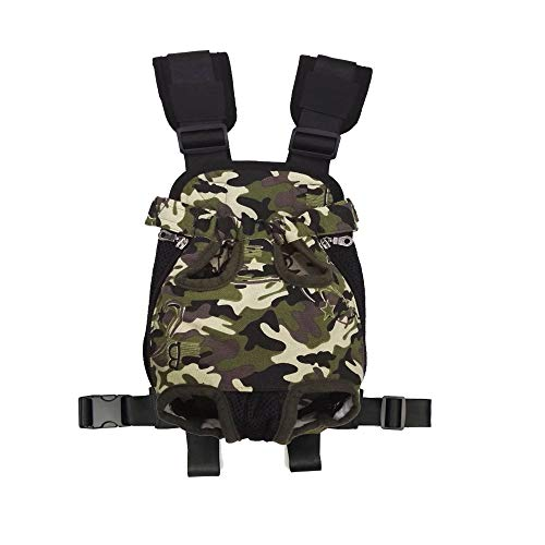 Legs Out Front Pet Carrier - HANCIN Dog Backpack Carrier, Legs Out Front Pet Cat Dog Carrier Backpack with Wide Straps and Shoulder Pads, for Walking, Travel, Hiking, Camping (XXL, Camouflage Black)