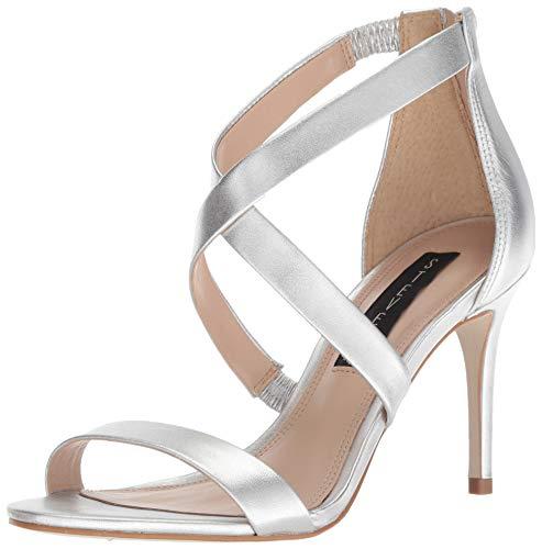STEVEN by Steve Madden Women's NEY Heeled Sandal Silver/Metallic 8.5 M US