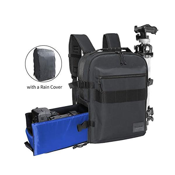 RANGELAND DSLR and Laptop Backpack Camera Backpack Laptop Accessory Storage, Tripod Holder Detachable Sling Belt