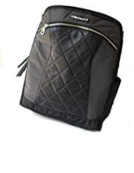 MotoChic Lauren Convertible Backpack Tote Bag, Black Leather